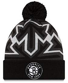 Brooklyn Nets Big Flake Pom Knit Hat