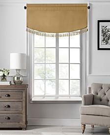 "Vanderbilt Scallop Tassel Window Valance, 50""x19"""