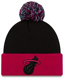 Miami Heat Black Pop Knit Hat