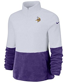 Women's Minnesota Vikings Half-Zip Therma Fleece Pullover