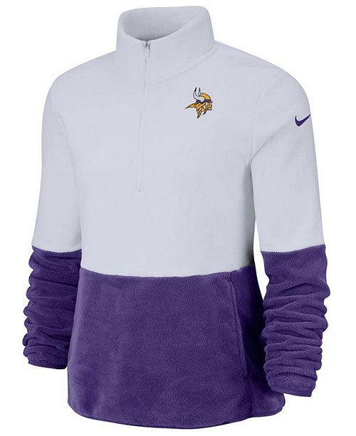 Nike Women's Minnesota Vikings Half-Zip Therma Fleece Pullover