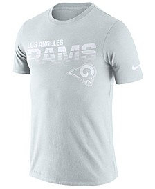Men's Los Angeles Rams 100th Anniversary Sideline Legend Line of Scrimmage T-Shirt