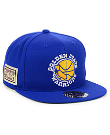 Mitchell & Ness Golden State Warriors Hardwood Classic Patch Fitted Cap