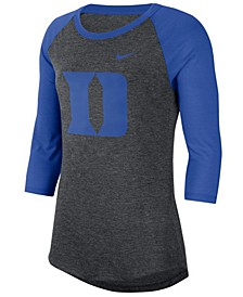 Women's Duke Blue Devils Logo Raglan T-Shirt
