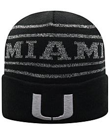 Miami Hurricanes Bright Night Cuffed Knit Hat