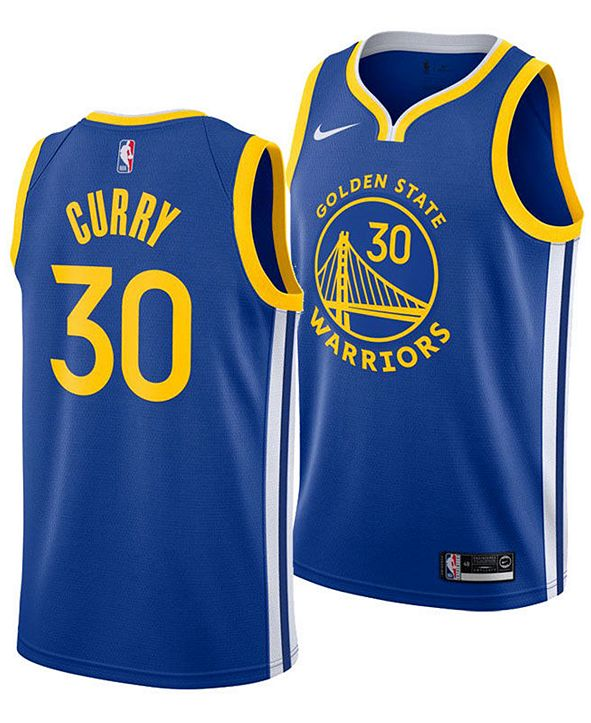 Nike Men's Stephen Curry Golden State Warriors Icon Swingman Jersey