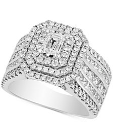 Diamond Multi-Row Statement Ring (2-1/2 ct. t.w.) in 14k White Gold