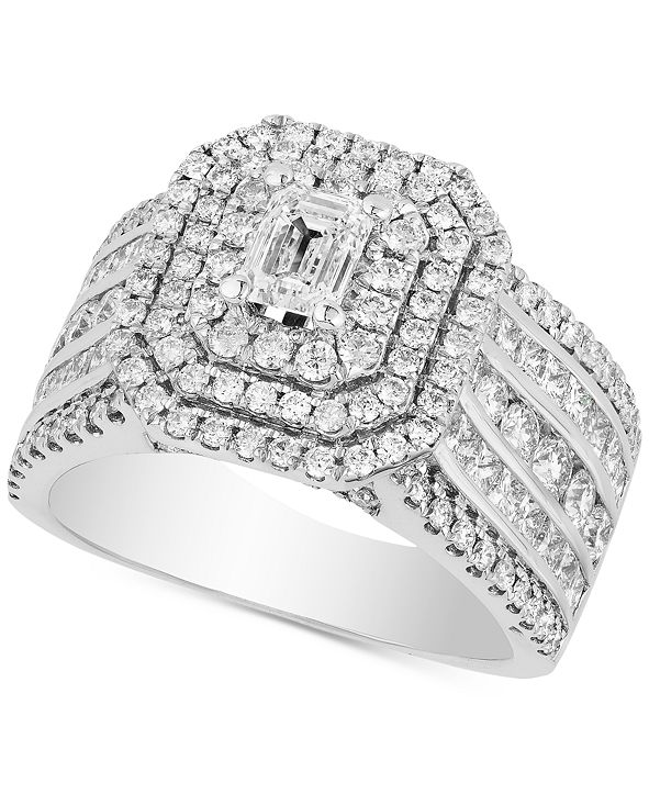 Macy's Diamond Multi-Row Statement Ring (2-1/2 ct. t.w.) in 14k White Gold