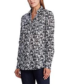 Petite Patch-Pocket Cotton Shirt