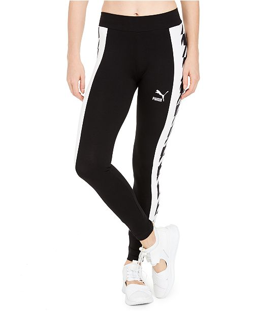 Puma Cotton Printed-Stripe Leggings