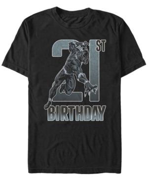 Fifth Sun Men's Marvel Black Panther 21st Birthday Short Sleeve T-Shirt