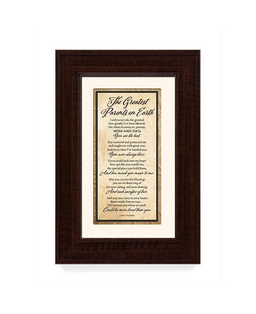 """James Lawrence Company James Lawrence the Greatest Parents on Earth Traditions Framed Art, 8.5"""" x 12.5"""""""