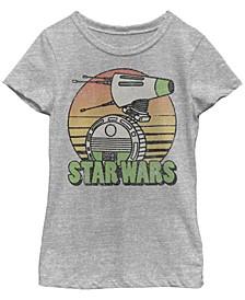 Big Girls Retro Distressed D-O Sunset Short Sleeve T-Shirt