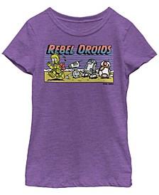 Big Girls Cartoon Rebel Droids Short Sleeve T-Shirt