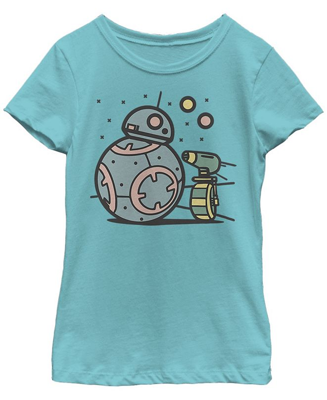 Star Wars Big Girls BB-8 D-O Droid Team Short Sleeve T-Shirt