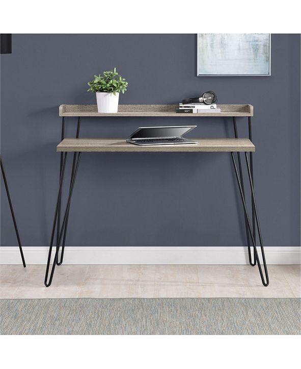 Ameriwood Home Haven Retro Desk with Riser