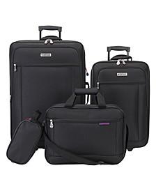 Hudson 4-Pc. Softside Luggage Set