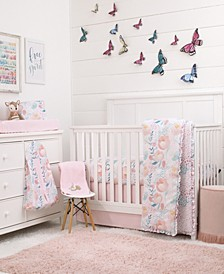 Watercolor Blossoms 8-Piece Crib Bedding Set