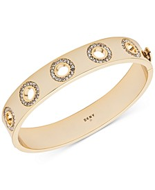 Gold-Tone Pavé Open Circle Bangle Bracelet, Created For Macy's