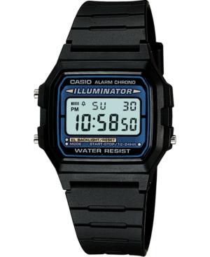 Unisex Digital Black Resin Strap Watch 35mm
