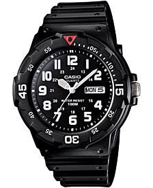 Men's Black Resin Strap Watch 43mm