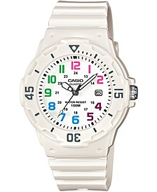 Women's White Resin Strap Watch 34mm