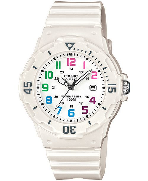 Casio Women's White Resin Strap Watch 34mm