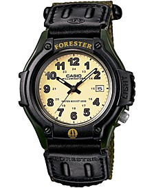 Men's Forester Green Nylon Strap Watch 41mm