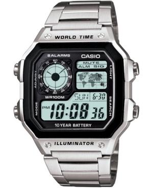 Unisex Digital Stainless Steel Bracelet Watch 39.5mm