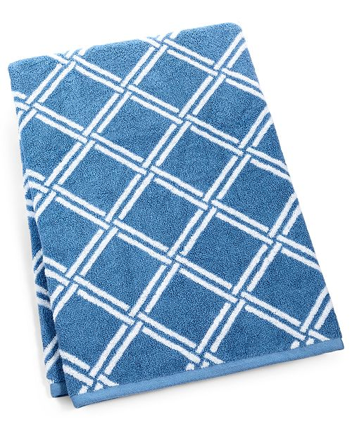 "Charter Club Elite Cotton Lattice 30"" x 56"" Bath Towel, Created for Macy's"