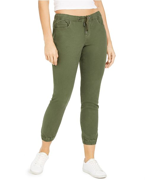 Rewash Juniors' Cropped Pull-On Joggers