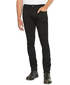 Men's Super-Skinny Black Jeans