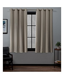 Academy Total Blackout Grommet Top Curtain Panel Pair