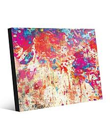 Splatter Shop Vermillion Abstract Acrylic Wall Art Print Collection