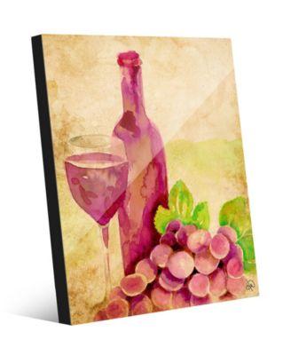 "Degustazione Vini Watercolor Abstract 24"" x 36"" Acrylic Wall Art Print"