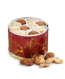 Holiday Cookie Reindeer Tin Gift set - 120 Pieces