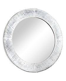 American Art Decor Round Wooden Framed Wall Mirror