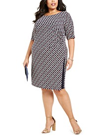 Plus Size Chain-Print Sheath Dress