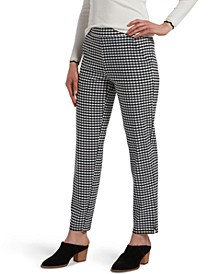 Temp Tech Gingham-Print Trouser Leggings