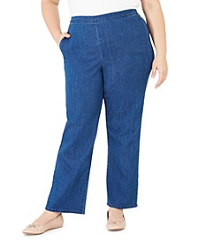 Plus Size Pearls of Wisdom Proportioned Denim Jeans