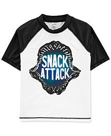 Little & Big Boys Snack Attack Rash Guard