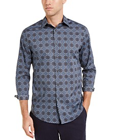 Men's Medallion Tapestry Print Shirt, Created For Macy's