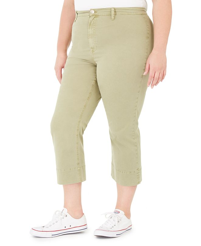 Celebrity Pink Trendy Plus Size Montauk Cropped Pants