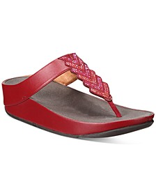 Cora Crystal Thong Sandals