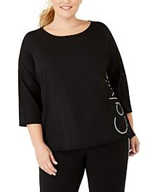 Plus Size Dolman-Sleeve Logo T-Shirt