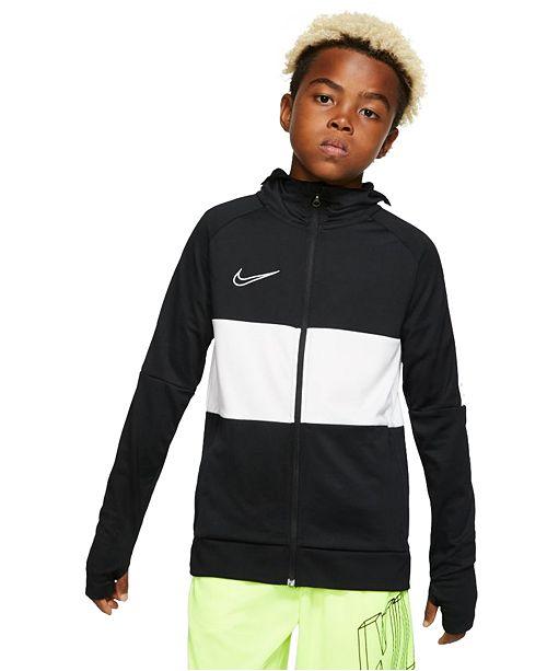 Nike Big Boys Dri-FIT Academy Hooded Soccer Jacket