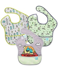 3-Pk. SuperBib Waterproof Baby Bibs