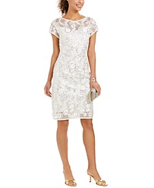 Floral Soutache Sheath Dress