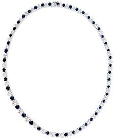 "Emerald (15 ct. t.w.) & Diamond (2-1/2 ct. t.w.) 16"" Statement Necklace in 14k White Gold (Also in Sapphire)"