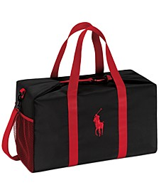 Receive a Complimentary Duffle with any large spray purchase from the Polo Red Fragrance Collection